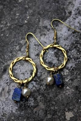 Lapis Loops Earrings