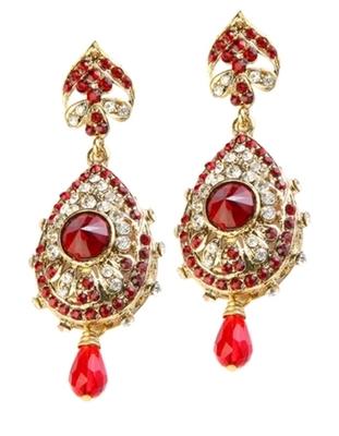 Dealtz Fashion Red Teardrop Design Earrings