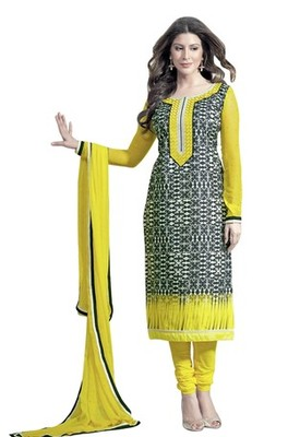 Triveni Chic & Modish Abstract Print Salwar Kameez TSAYSPVSK14007b