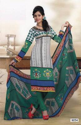 Elegant Crepe Dress Material Unstitched Salwar Suit D.No AM9054