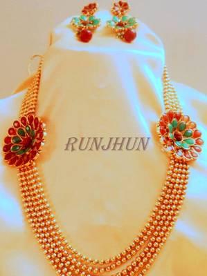 5 line rudraksh necklace