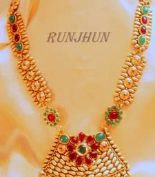 Buy long ruby green necklace necklace-set online