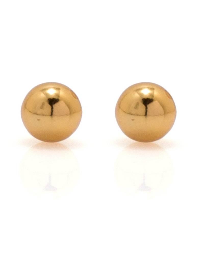 Buy Earrings Men Boys Studs Gold Round Ball Design Piercing ...