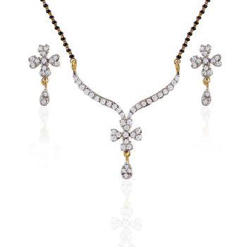 Heena Fashion Mangalsutra set with floral design
