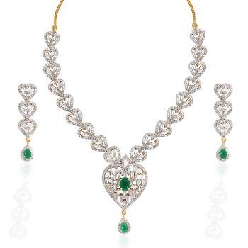 Heena Trendy Love Collection Necklace Set >> HJNL121G <<