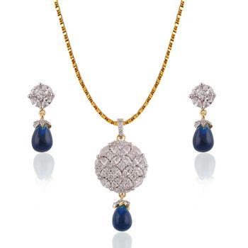 Heena Pearl Hanging Elegant Pendent set