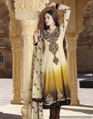 Yellow Salwar Kameez Churidar Dress Material SCA7193B