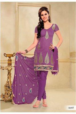 Casual Wear Purple Dress Material
