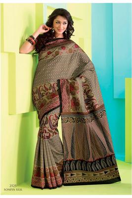 Gorgeous Brown Raw Silk Saree