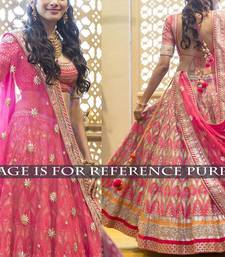Buy Pink embroidred banglory silk actress semi stitched lahenga with  blouse bollywood-lehenga online