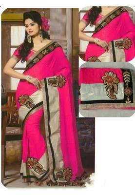 Pink Golden Bollywood Replica Saree