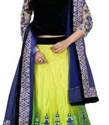 Buy Fashionlife Black and yellow georgette embroidered lehenga-choli party-wear-salwar-kameez online