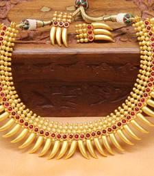 Buy Beautiful Designer Matt finish  necklace set south-indian-jewellery online