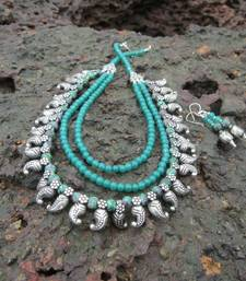 Buy Ethnic tribal necklace (multi layer ) necklace-set online