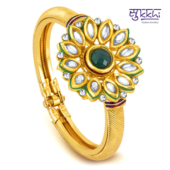 Sukkhi Gold Plated Kundan Flexible Kada