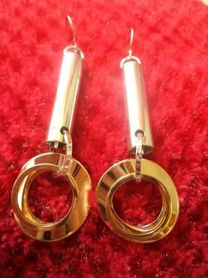 Gold & Silver Earrings-06098
