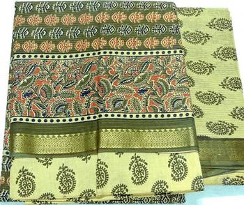 Cotton Dress Material With Benarsi Style Duptta