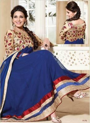 Sonali Bendre Party Wear Designer Anarkali