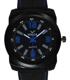 Buy Gennien Leather Strap Black colour  Boy's anlong wrist watch arrival watch online