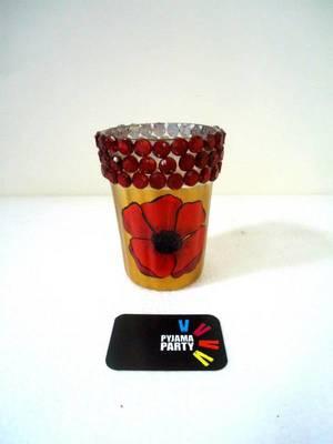 Poppy- hand-painted tealight holders