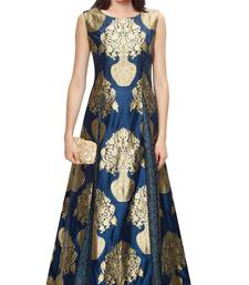 Buy Blue  embroidered net unstitched ghagra choli ghagra-choli online