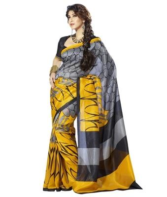 Triveni Fashionable Polka Dots Motif Dual Color Traditional Saree TSVF10049
