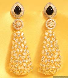 Buy Blue Sapphire Diamond Look Party Danglers danglers-drop online