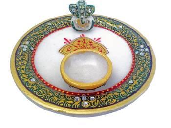 Diwali Puja Thali Marble
