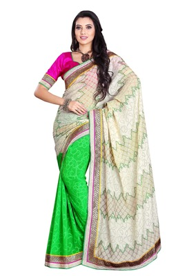 Triveni Trendy Brighted Chiffon Jacquard Saree TSWV511a