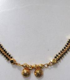 Buy Nice golden small pendant mangalsutra necklace mangalsutra online