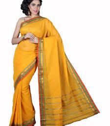 Buy Pavecha's Mangalgiri Cotton Saree - Diamond Gold MK842 cotton-saree online