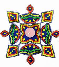 Buy Acrylic artificial diya pattern rangoli diwali-decoration online