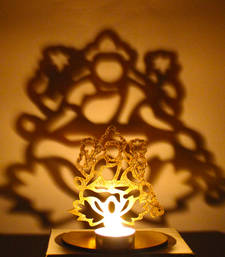 Buy Shadow diya tealight candle holder of removable goddess lakshmi diya online