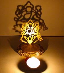 Buy Exclusive shadow diya tealight candle holder of removable goddess lakshmi diya online