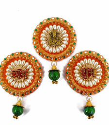Buy Shubh labh with ganesha acrylic sticker hanging set diwali-gift-hampers-idea online