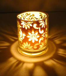 Buy Designer shadow glass diya diya online