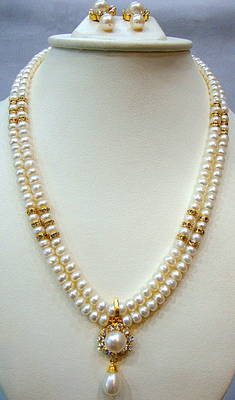 REAL PEARLS DOUBLE STRING PEARLS SET