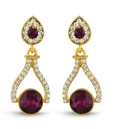 Buy Purple studded jewellery studs stud online
