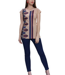 Buy Multicolor printed crepe tops fashion-deal online