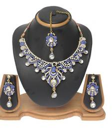 Buy Blue cubic zirconia necklace-sets necklace-set online