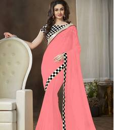 Buy Red printed georgette saree with blouse wedding-gift online
