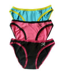 "Buy PrettySecrets ""CHEEKY DATE"" Bikini (Pack Of 3) panty online"