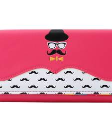 Buy Pink pu and artificial leather wallets wallet online