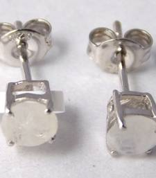 Buy White  Sterling Silver semi precious gemstone earrings gemstone-earring online