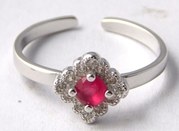 Red Ruby Sterling Silver semi precious other gemstone