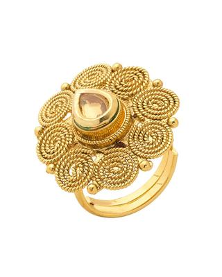 Gold kundan rings