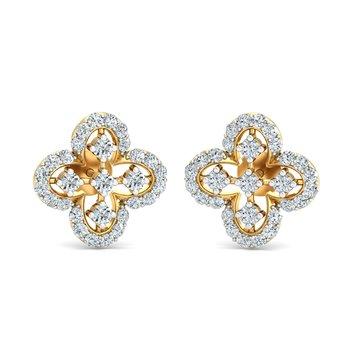 0.47ct diamond studs 18kt gold earrings