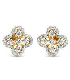 Buy 0.47ct diamond studs 18kt gold earrings gemstone-earring online