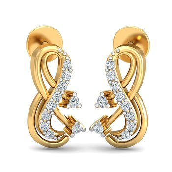 0.13ct diamond studs 18kt gold earrings