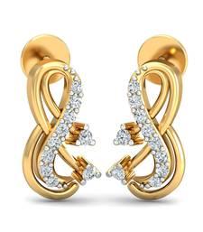Buy 0.13ct diamond studs 18kt gold earrings gemstone-earring online